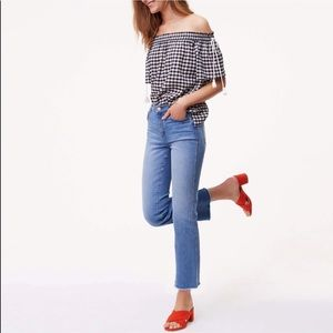 LOFT Modern Straight Raw Hem Jeans